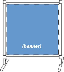 Banner accessory: 3 x 3 banner frame, PVC KIT
