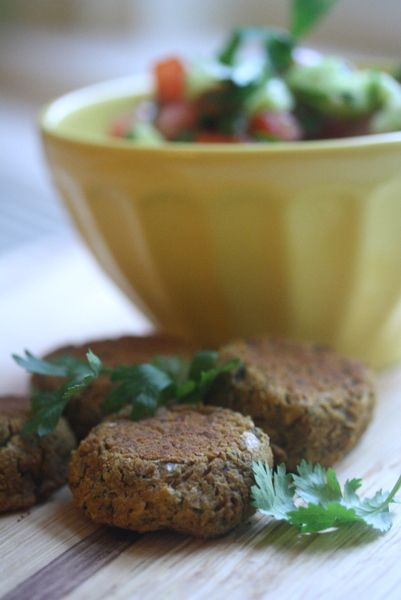 GF Spicy Baked Falafel with Tahini Aioli