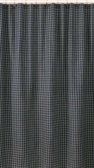 Sturbridge Navy Shower Curtain