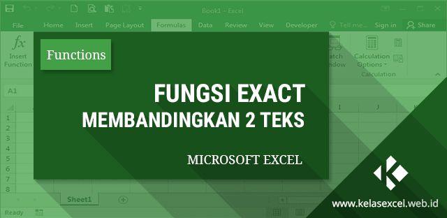 Rumus Exact Excel : Cara menggunakan fungsi exact untuk membandingkan atau mencocokkan data di excel.