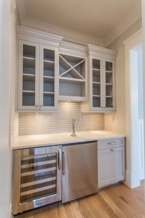 JacksonBuilt Custom Homes   Kitchens   Benjamin Moore   Nimbus   Built In Wet  Bar,