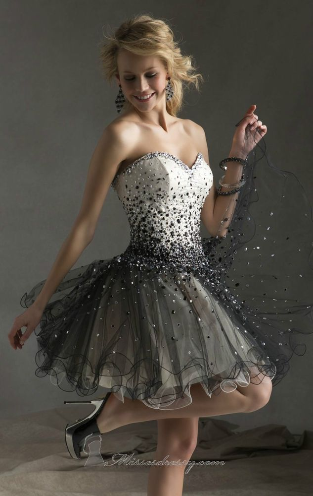 New Sexy Sweetheart Homecoming Dresses Beaded Short Cocktail Party Prom Gown #Handmade #BallGown #Formal