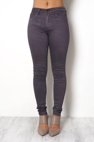 High Waist Charcoal Gelato Legs // REFUGE DENIM