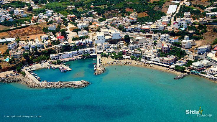 The picturesque harbor of Makrigialos,  the fantastic sandy beach ,  close to Sitia - Crete.