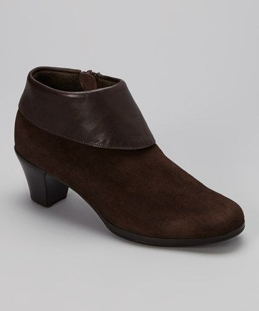 Look what I found on #zulily! Brown Grace Suede Booties by Munro Shoes #zulilyfinds