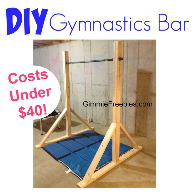 How to Make a Gymnastic Practice Mini Bar at Home (under $40!)