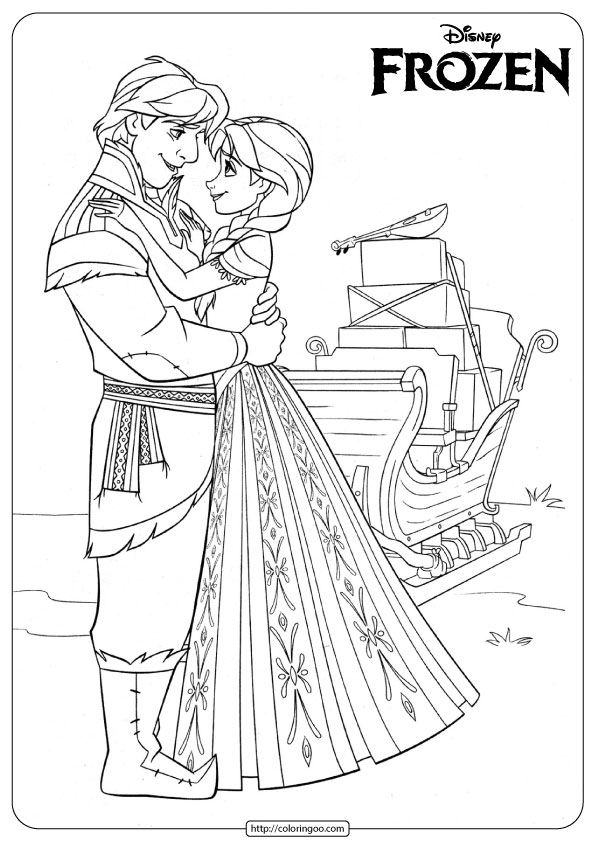 Anna And Kristoff Coloring Pages Disney Coloring Pages Coloring Books Coloring Pages
