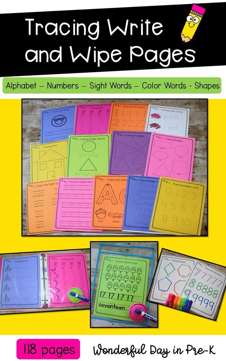 Includes 118 Tracing Pages They Can Be Used In Dry Erase Pockets With Sheet Protectors In A Binder Printe Prewriting Skills Kids Binder Teaching Life Skills [ 1177 x 736 Pixel ]