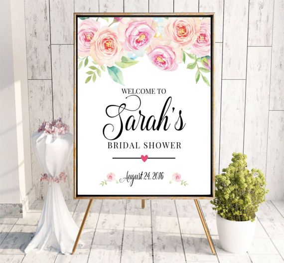 Welcome to Bridal Shower sign Printable Digital Personalized