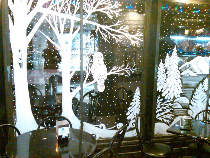 christmas window painting - Google Search