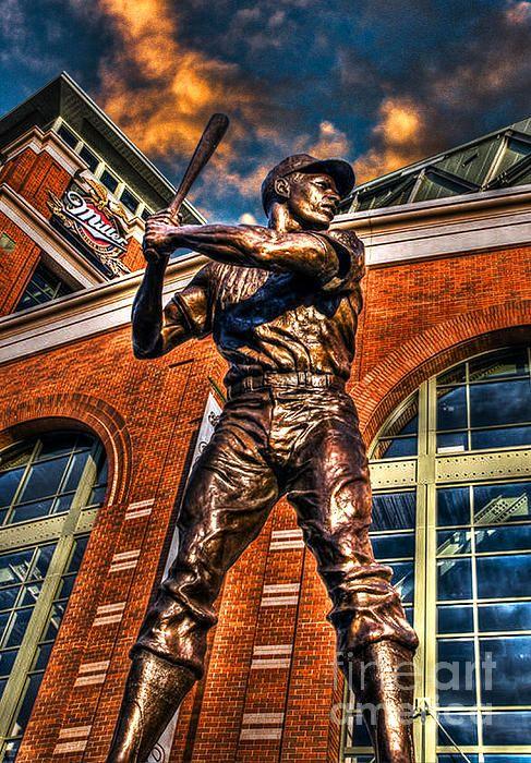 Hank Aaron in HDR Photograph  - Hank Aaron in HDR Fine Art Print