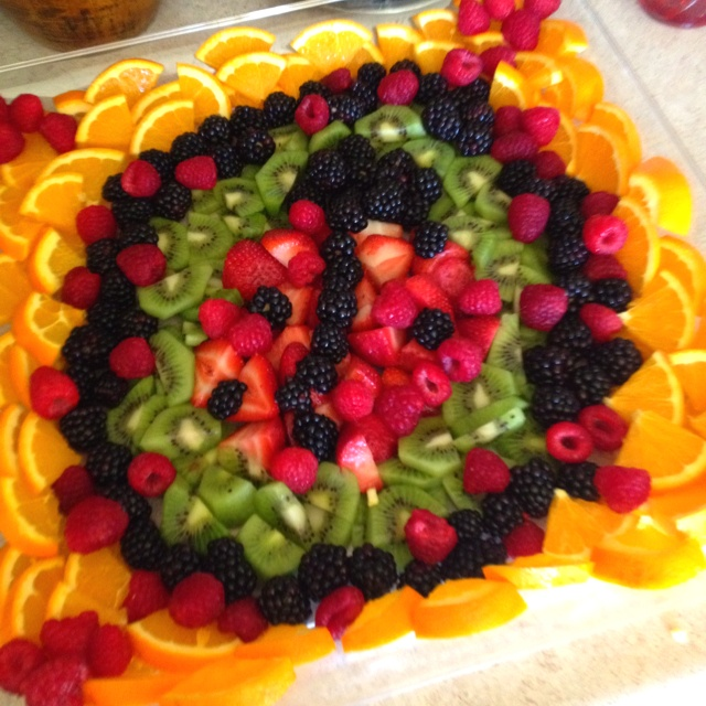 Lady bug fruit tray for my babies 1st birthday!!