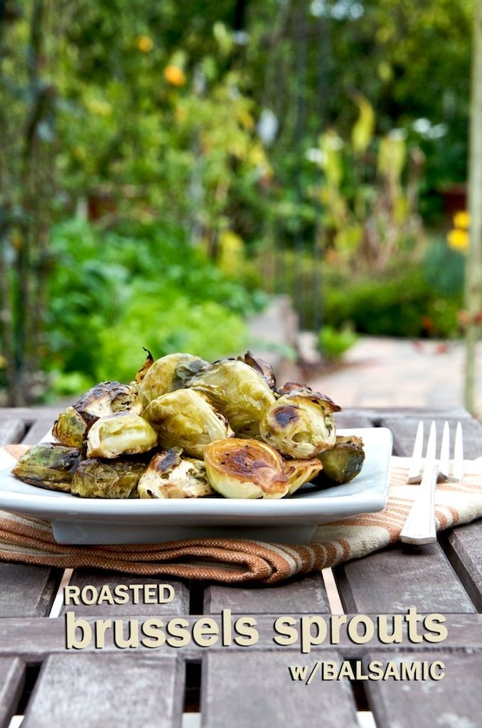 Delicious recipe for roasted brussels sprouts with balsamic vinegar. Roasting brussels sprouts in the oven is easy. A great thanksgiving side dish