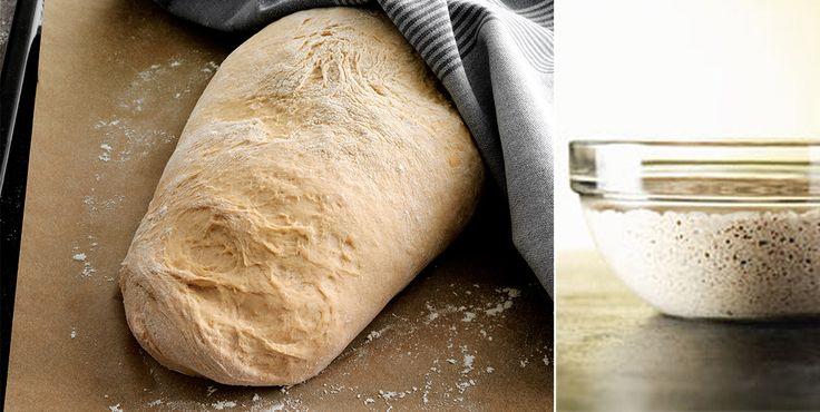 Recept på vetesurdegsgrund, som används för att baka surdegsbröd. Surdegsgrunden tar några dagar att göra, men ger ett fantastisk smakrikt bröd!
