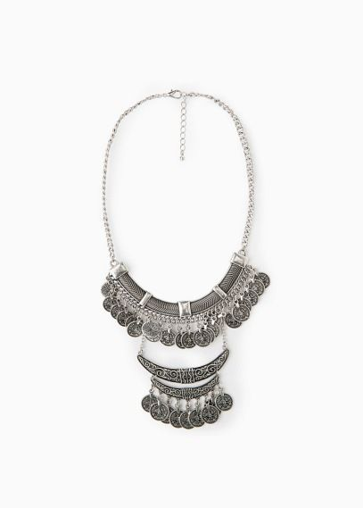 Ethnic coin necklace   MANGO $40 THERE IS A MANGO STORE IN MIAMI