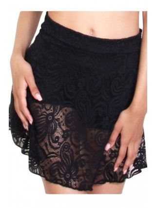 Women's Cyclone Lace Circle Skirt