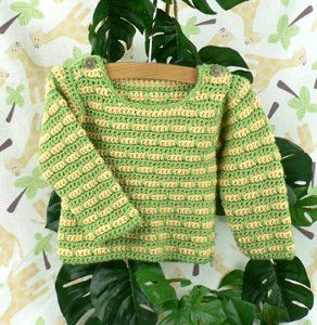 Striped Baby Sweater | FaveCrafts.com
