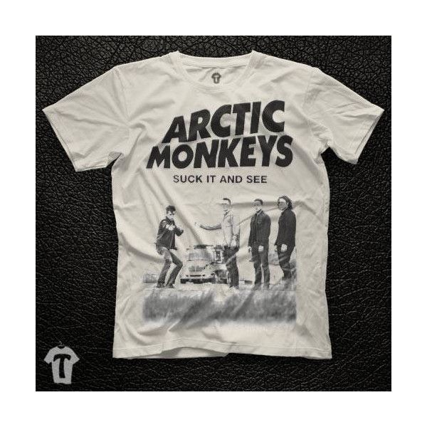 Arctic Monkeys Suck It And See Unisex White T Shirt Graphic Tee Arctic... ($13) ❤ liked on Polyvore featuring men's fashion, men's clothing, men's shirts, men's t-shirts, guy harvey mens shirts, mens white cotton shirts, mens t shirts, mens checked shirts and mens cotton shirts