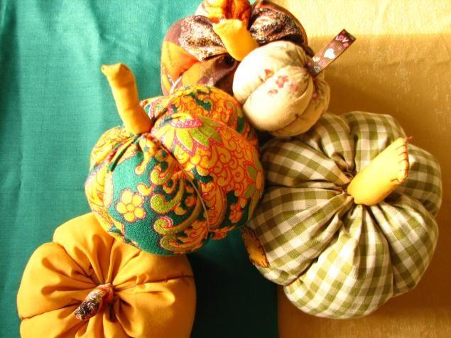 Тыква из ткани - Ярмарка Мастеров - ручная работа, handmade
