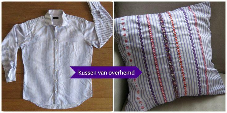 DIY kussen: maak zelf een kussenhoes van een overhemd
