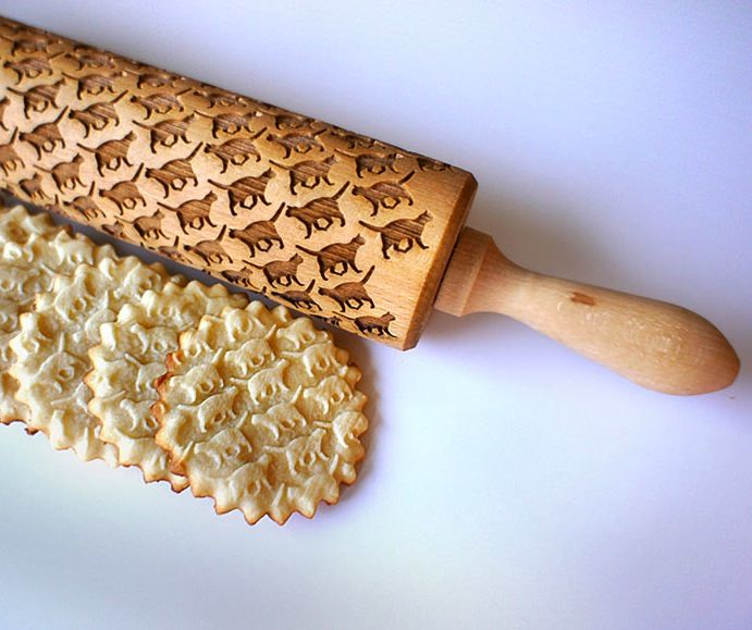Play with #Food: these funny rolling pins will imprint original #design on your pastries. #foodie #fooddesign