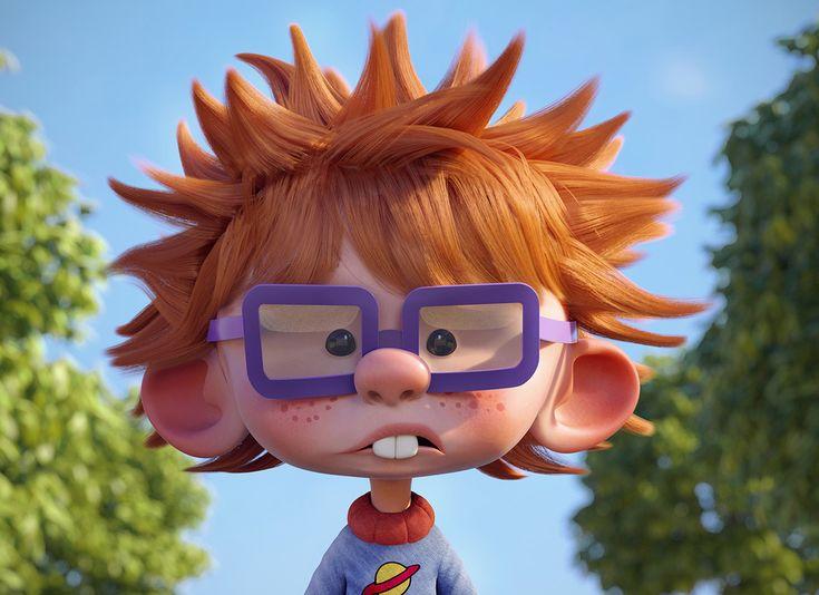 Chuckie finster by guzz soares cartoon 3d character