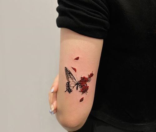 50+ Stunning Tattoo Designs With Meaning - 2020 in 2020 | Butterfly tattoo, Butterfly tattoo designs, Tattoo designs and meanings