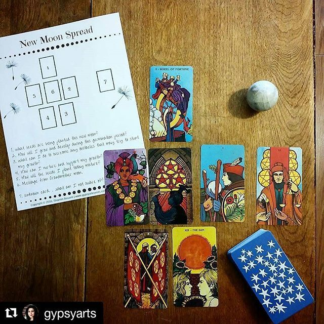 Are you starting to feel the energy of the New Moon in Leo, which is tomorrow?   I have uploaded my New Moon Spread that I created for my Tarot 101 class to the New Moon Manifestation post.  Link to download the New Moon Spread PDF (Tag me in your spread ☺): http://www.gypsyartevents.com/2015-08-13/how-to-use-the-new-moon-to-manifest  #newmoon #leo #darkmoon #moon #lunar #luna #goddess #witch #wicca #yoga #yogisofinstagram #newmoonblessings #newmooninaries #pagans #pagansofinstagram…