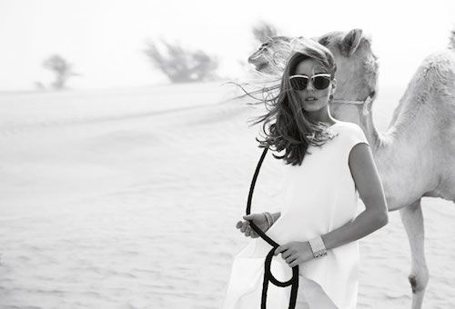SHOOT: Olivia Palermo is een golden girl in de woestijn   I LOVE FASHION NEWS