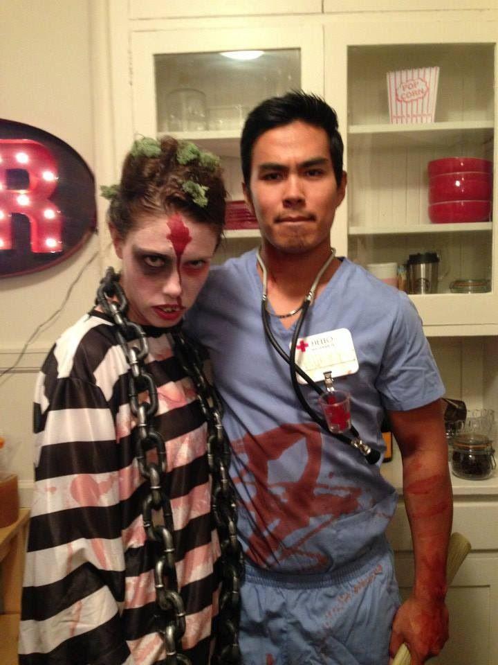 halloween zombie convict makeup