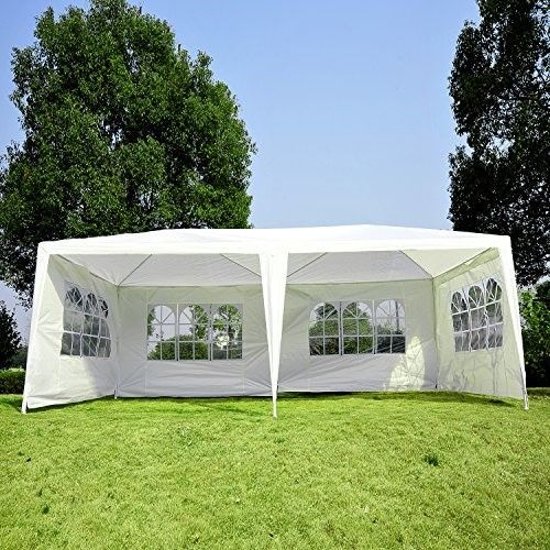 Outsunny 10 X 20 Gazebo Canopy Party Tent W 4 Removable Window Side Walls White Tentcanopywedding Canopy Tent Patio Gazebo Gazebo Canopy