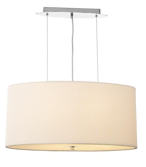 The Figaro Ceiling Light Pendant Has A Micro Pleat Cream
