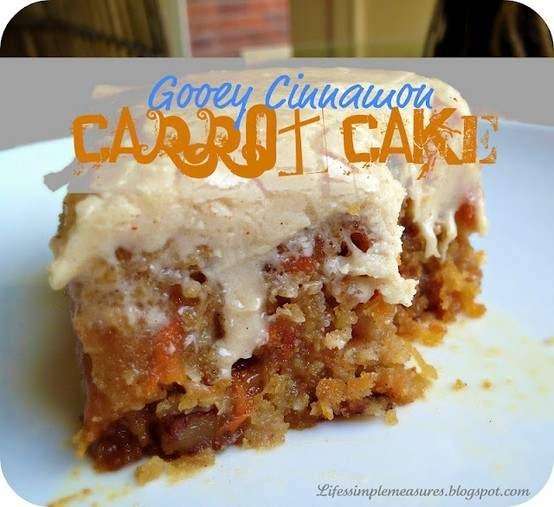 gooey cinnamon carrot cake | food | Pinterest