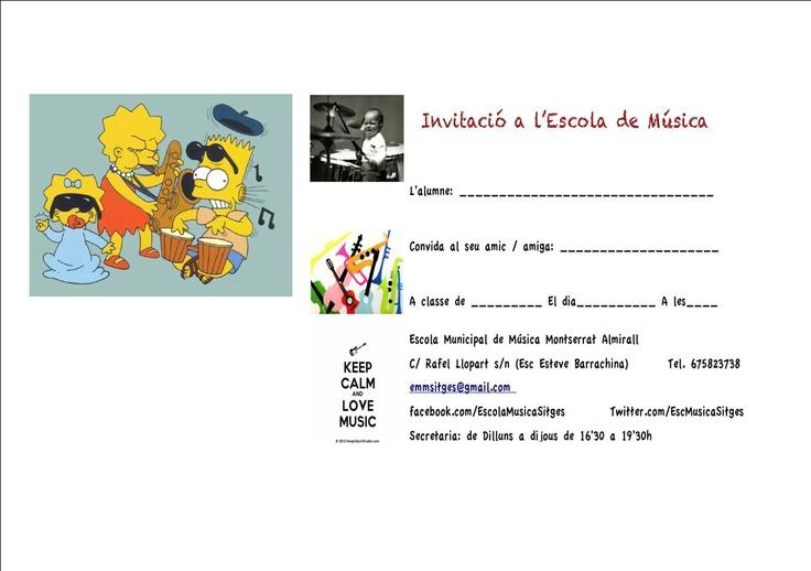 El mes de febrer a l'Escola de Música és EL MES DE L'AMIC