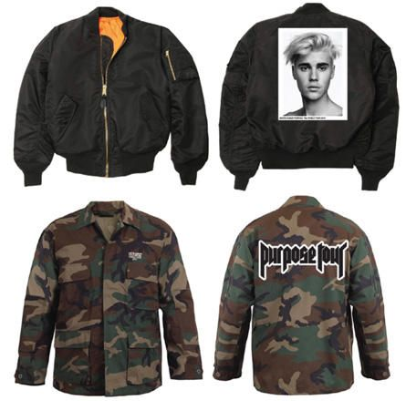 Ahead of the first 'Purpose' world tour show, we get an exclusive look at Justin Bieber's new concert merch.