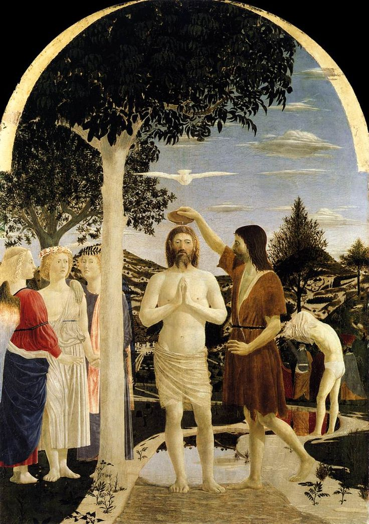 Piero della Francesca. Baptism of Christ. 1440 - 1460. National Gallery, London ArtExperienceNYC