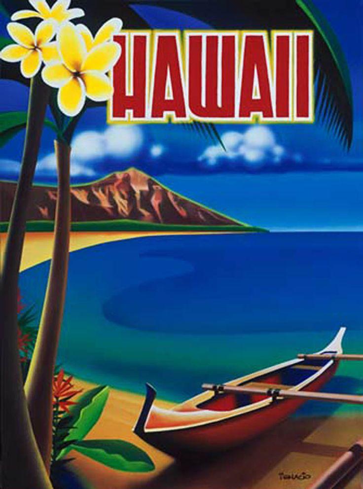 Vintage Hawaii Travel Poster 34