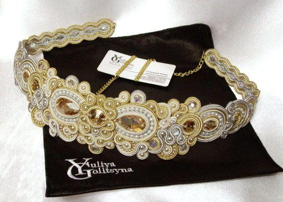 SOUTACHE belt -  found this really awesome Etsy listing at https://www.etsy.com/listing/286618213/soutache-soutache-dress-belt-soutache