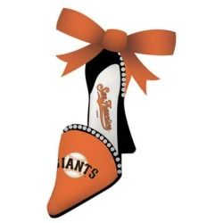 San Francisco Giants High Heel Shoe Christmas Ornament - Designer Footwear Reviews