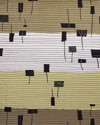 Triad, furnishing fabric, by Lucienne Day -- V Prints