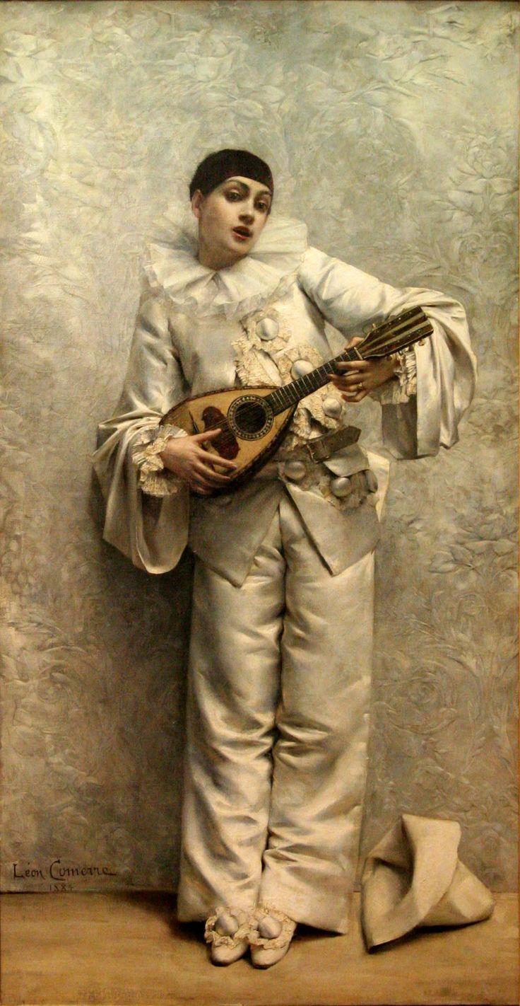 Comerre-Pierrot  jouant de la mandoline-Musée de Gap