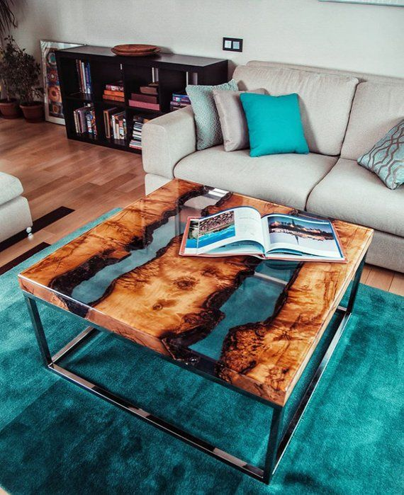 CUSTOM ORDER for DEBORAH Epoxy Coffee Table,resin river table,river coffee table,Custom Furniture