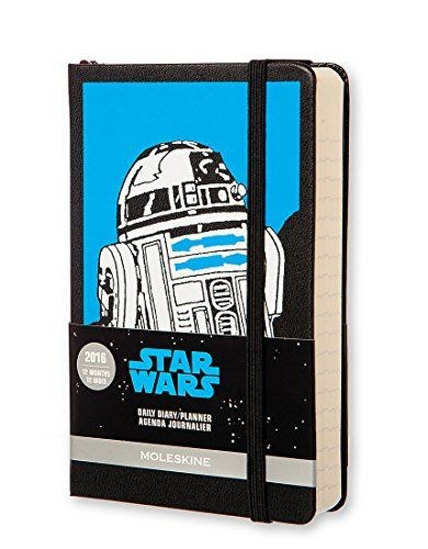 Moleskine 2016 Star Wars Limited Edition Daily Planner, 12 Month, Pocket, Black, Hard Cover (3.5 x 5.5) by Moleskine http://www.amazon.com/dp/B00O80WCQ8/ref=cm_sw_r_pi_dp_jaLvwb1KEW9J5