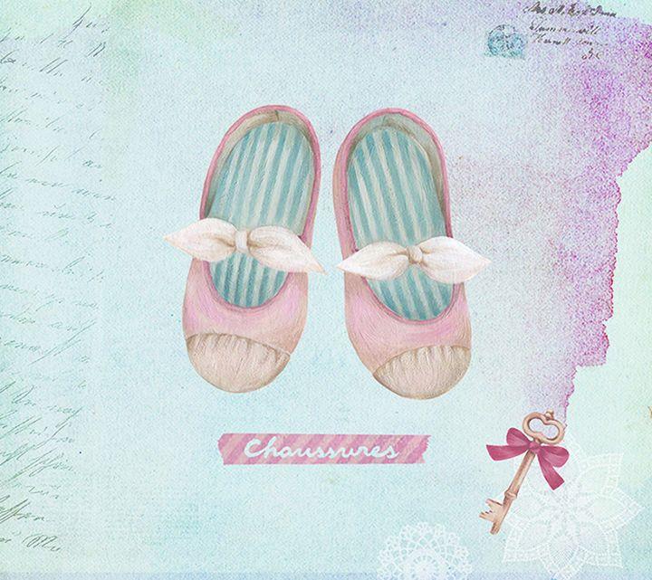 Ana Sucré : La Petite Ballerine on Behance Her ballet shoes