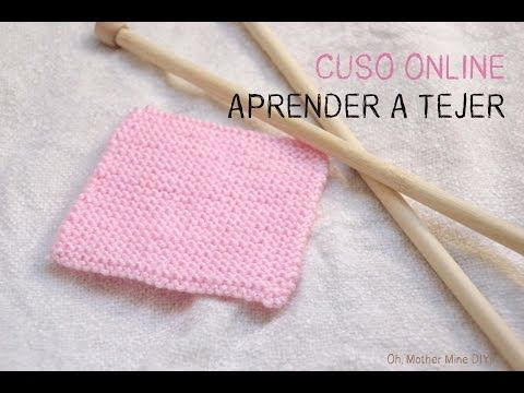 Curso online gratis: Aprender a tejer con dos agujas (Cap 5) Punto bobo | Aprender manualidades es facilisimo.com