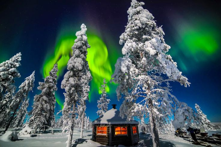 Охота на северное сияние в финской Лапландии #Finland #aurora