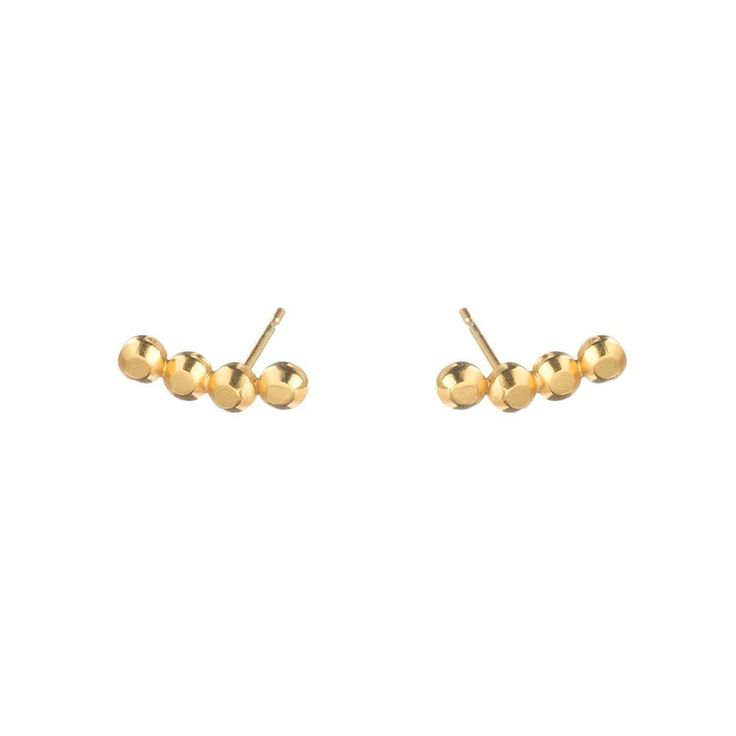 Can't get enough of our Vincent Four Stud Earrings in 18ct gold vermeil. Wearing mine as an everyday staple at the moment! Grab yourself a pair and use coupon code SPRING16 at checkout to get your 25% discount 👌👏✨💫 #everydaystaple #coolstudearrings #vincentcollection #goldstudearrings #louisewadejewellery #designerjewellerysale