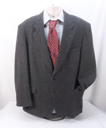 WOOLRICH-Mens-Wool-Blazer-Sportcoat-2-Button-Grey-9196-Tag-Size-L-Made-In-USA