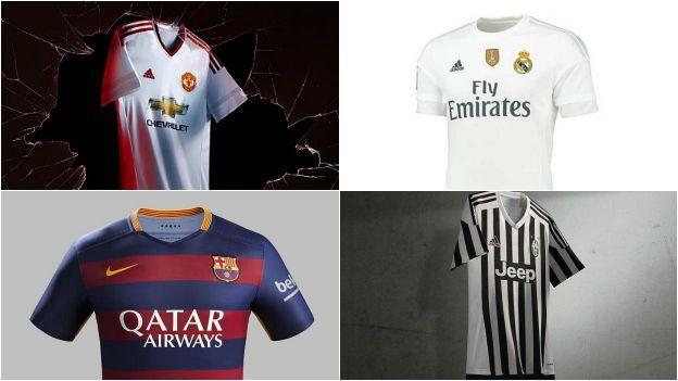 Real Madrid, Barcelona y las nuevas camisetas de los más bravos de Europa. August 11, 2015.