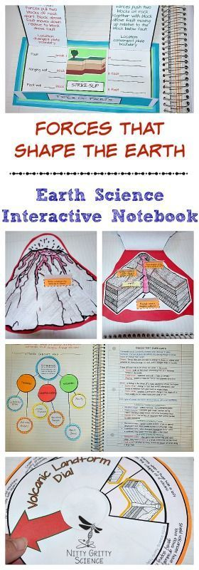 Forces That Shape The Earth, Earth Science Interactive Notebook: Plate Tectonics includes the following concepts: •Forces that Shape Earth •Earthquakes •Volcanoes •Volcanic Landforms